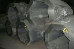Molds for octagonal bars