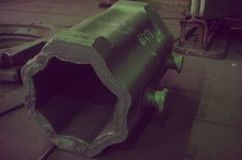 Steel mold. Steel 1.0443 for octagonal ingot