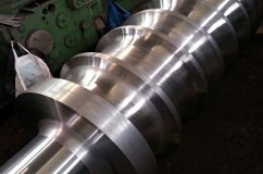 The roller section rolling mill while final machining